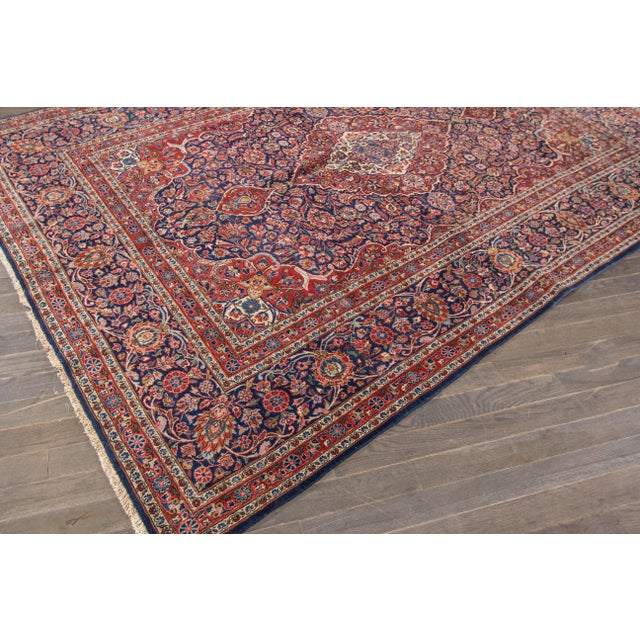 "Apadana Antique Persian Kashan Rug - 6'11"" x 10'2"" For Sale In New York - Image 6 of 6"