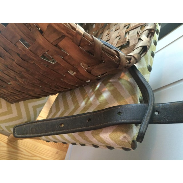 This is a gorgeous antique picker's basket/harvest basket with leather shoulder strap. It is in very good condition with...