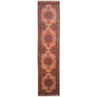 "Hand-Knotted Antique Runner - 10'3"" x 2'5"" For Sale"