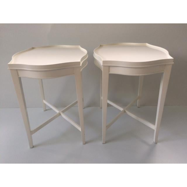 Vintage Hollywood Regency Side Tables - A Pair - Image 2 of 10