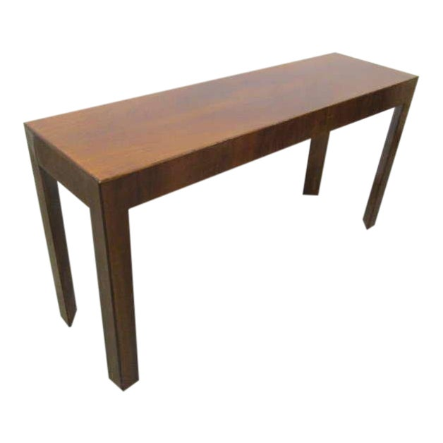 Italian Walnut Console Table For Sale
