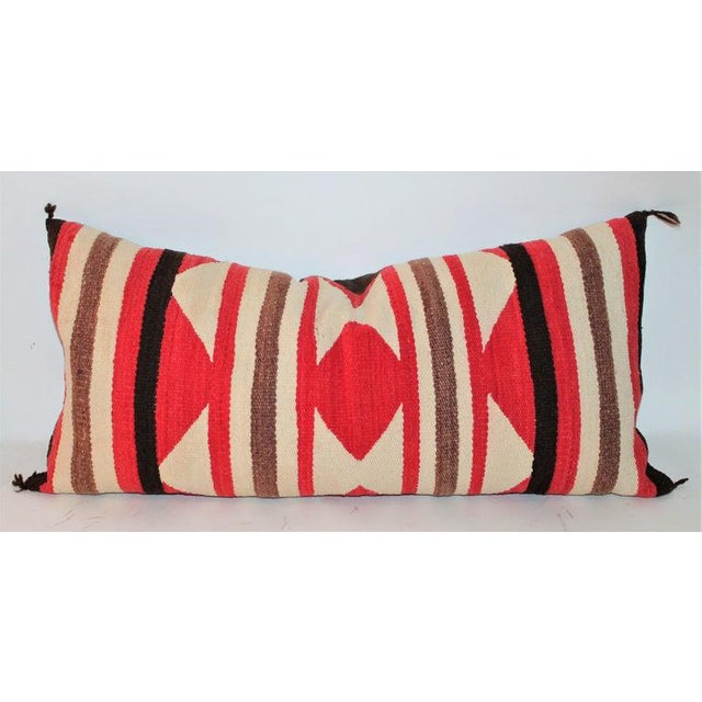 Cotton Navajo Saddle Blanket Bolster Pillows - Collection of 3 For Sale - Image 7 of 13