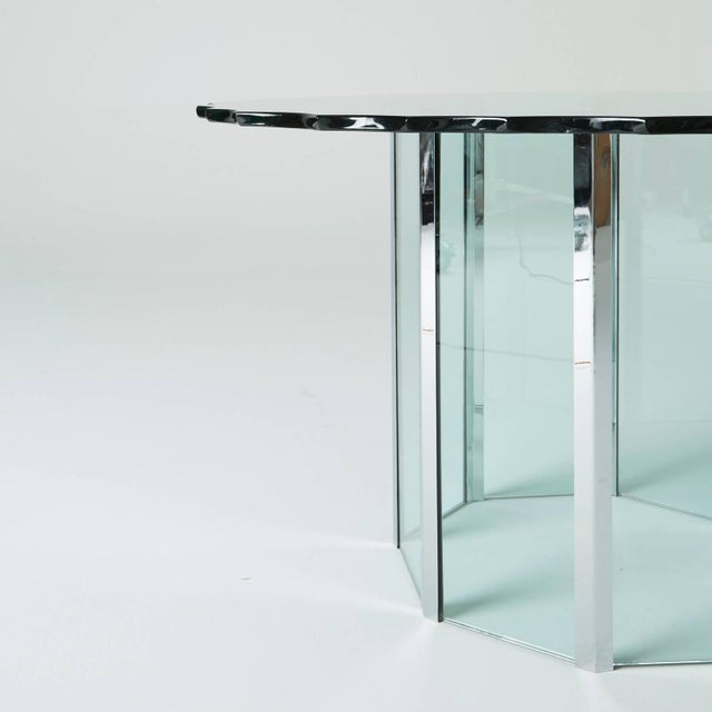 1970s Custom Glass and Chrome Table by Pace - Image 3 of 7