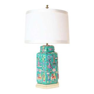 Chinese Porcelain Hexagonal Lamp