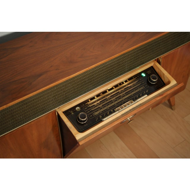Danish Modern 1956 Mid Century Grundig 9065 Stereo Console For Sale - Image 3 of 8
