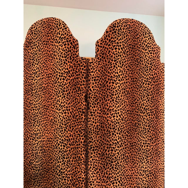 French Animal Print Room Divider Screen For Sale - Image 3 of 5
