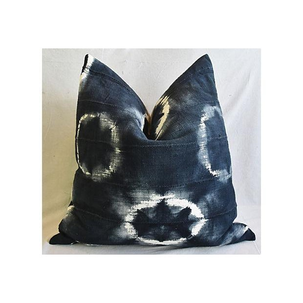 """Cotton Bohemian Chic Jumbo 32"""" Black, Gray & White Abstract Tribal Pillow/ Floor Cushion For Sale - Image 7 of 8"""