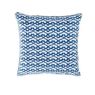 "Roberta Roller Rabbit Blue ""Big Cata"" Decorative Pillow Cover For Sale"