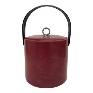 1960s George Briard Faux Leather Ice Bucket For Sale