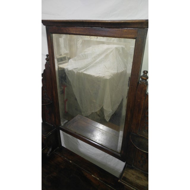 Glass 20th Century British Colonial Rose Wood Vanity For Sale - Image 7 of 10