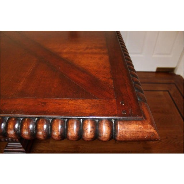 Wood French Provincial Palatial Ralph Lauren Marseillies Dining Table For Sale - Image 7 of 9