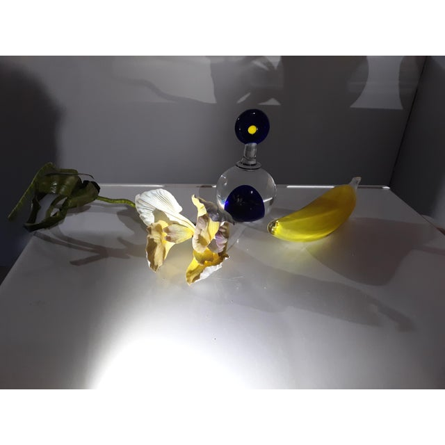 Modern 1990s Rony Plesl Yellow and Blue Encased Art For Sale - Image 3 of 10
