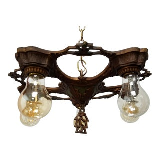 1920s Romance Revival Classic Semi Flush Fixture For Sale