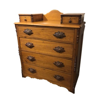 19th Century Empire Dresser With Grape Handles For Sale