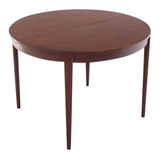 Vintage Mid Century Round Dunbar Dining Conference Table For Sale