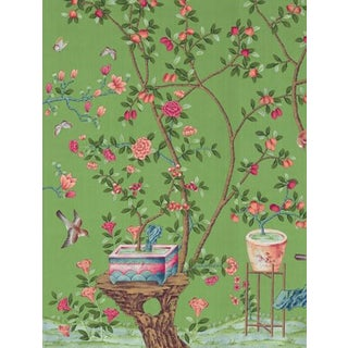 Casa Cosima Emerald Fauna Wallpaper Mural - Sample For Sale