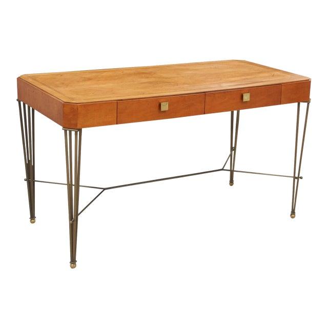 Hickory White Midcentury Modern Desk