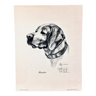 "1986 Signed Robert Christie ""Pointer"" Lithograph For Sale"