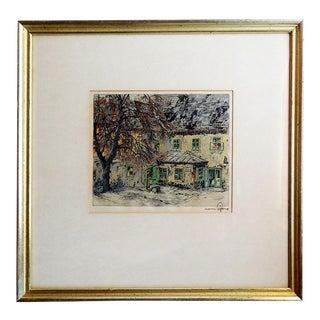 Hans Figura Etching Schubert's Home Vienna For Sale