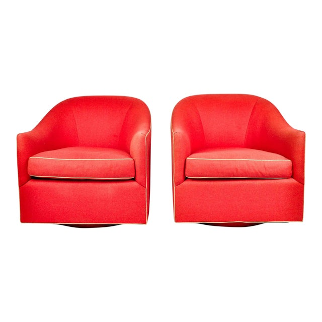 1960s Barrel Chairs, S/2 - Image 1 of 11
