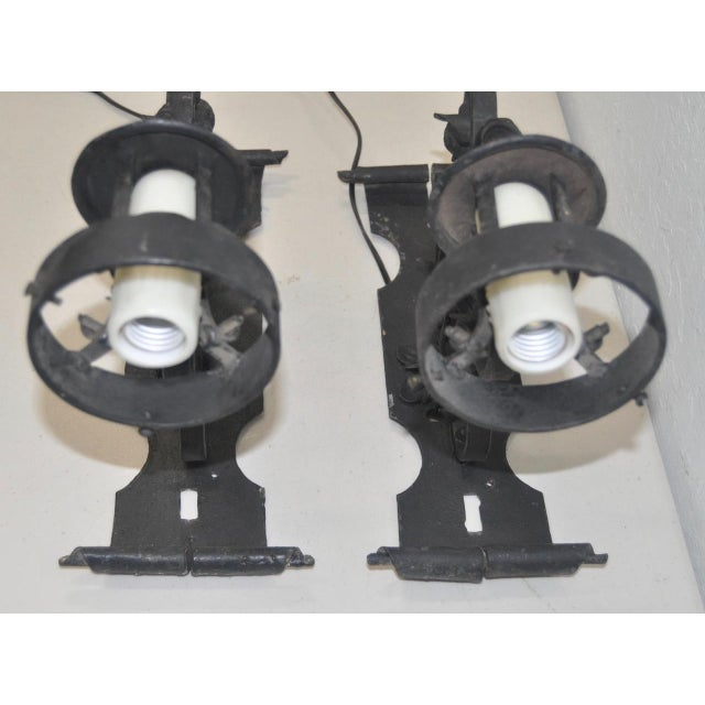 Early 20th Century Italian Wrought Iron Wall Sconces - A Pair For Sale - Image 5 of 5