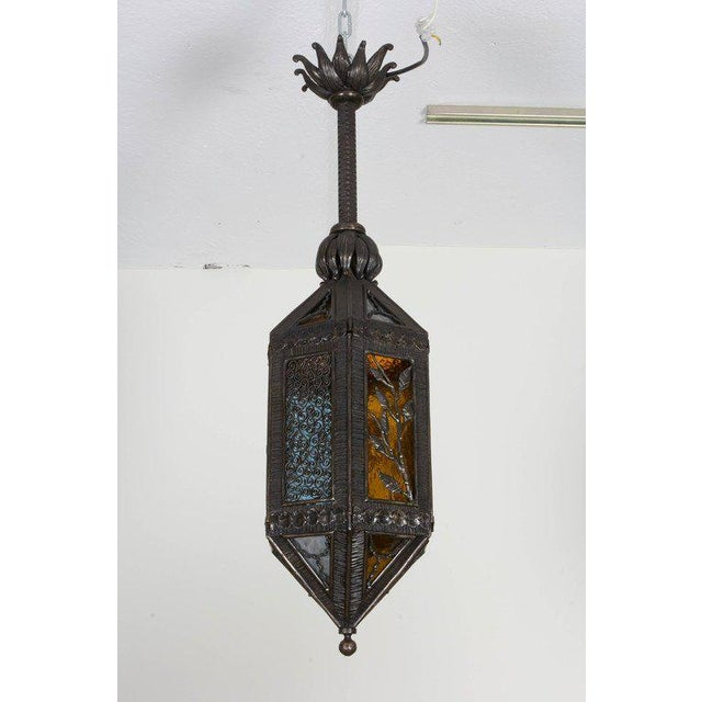 Gray Kiss Wrought Iron Lantern For Sale - Image 8 of 9