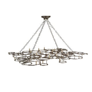 Currey and Co. Antique Silver Cataylst Chandelier For Sale