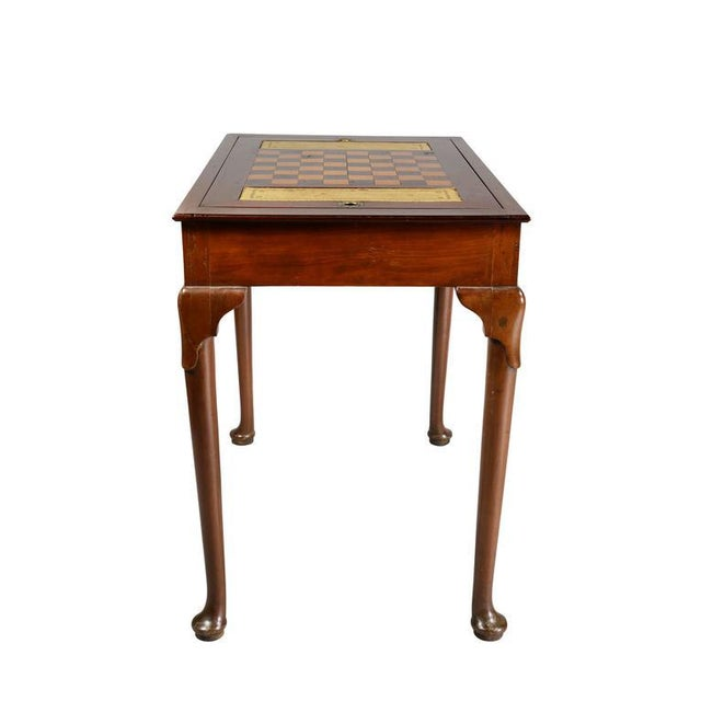 Queen Anne Style Mahogany Games Table For Sale In Boston - Image 6 of 10