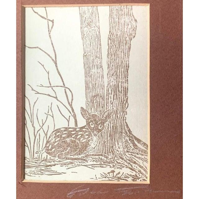 Gwen Frostic Deer Block Print For Sale - Image 4 of 7