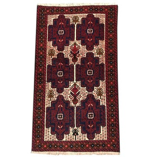 Traditional Tribal Hand Knotted Rug- 2′9″ × 4′8″ For Sale