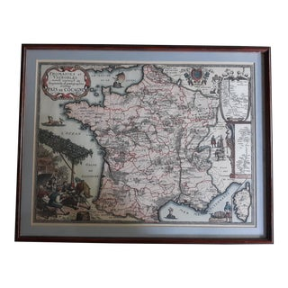 """Fromaiges Et Vignobles 1963 Derveaux"" Old French Map of Wine and Cheese Areas For Sale"