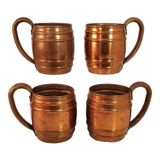 Vintage Copper Mugs from Cavalier by National Silver - Set of 4 For Sale
