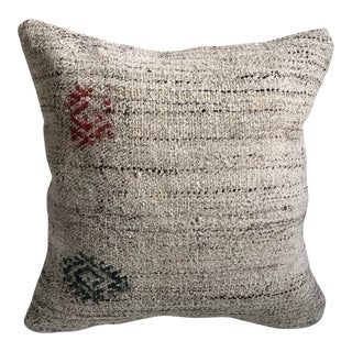 Vintage Turkish Anatolian Antique White Kilim Pillow For Sale