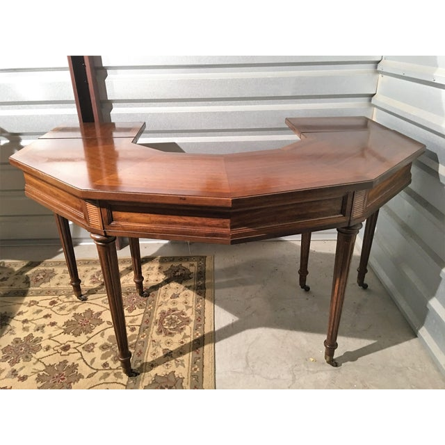 "Vintage Thomasville Drop-Leaf ""Horseshoe"" Desk - Image 3 of 10"