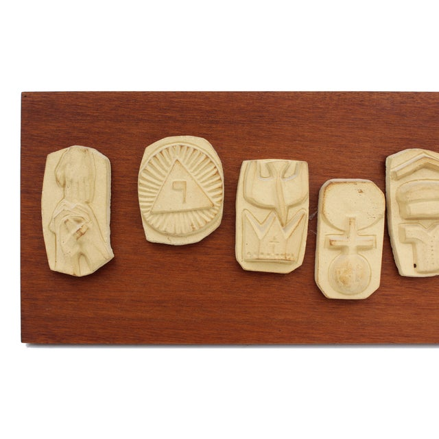 'The Lord's Prayer' Sculpture Panel For Sale - Image 4 of 8