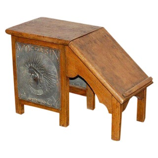 Moccasin Agency Shoe Fitting Stool For Sale