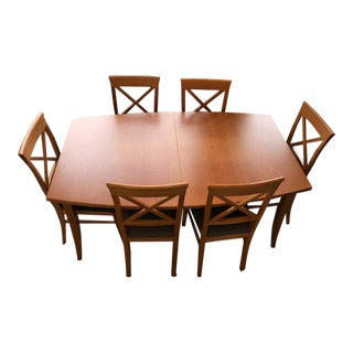 Transitional Dania Dining Set - 7 Pieces For Sale