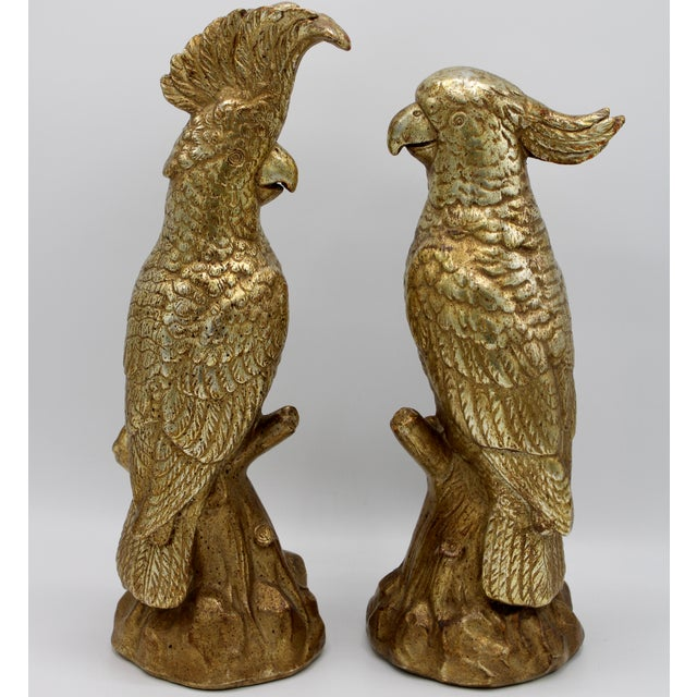 A superb pair of ceramic Borghese Italian Golden Gilt Parrots. They have their original Borghese label in tact. A unique,...