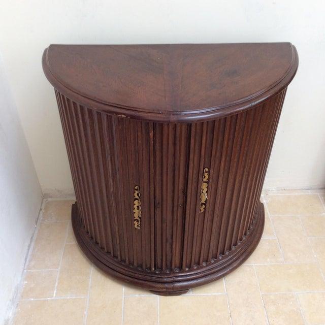 Primitive Rustic Primitive Demilune Cabinet For Sale - Image 3 of 10
