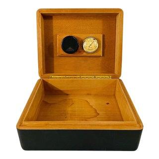 Art Deco Style Ebonized Humidor or Cigar Box For Sale