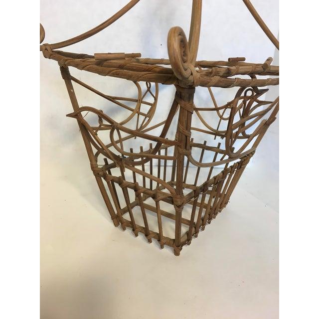 Vintage Wicker Pagoda Bird Cage - Image 3 of 4