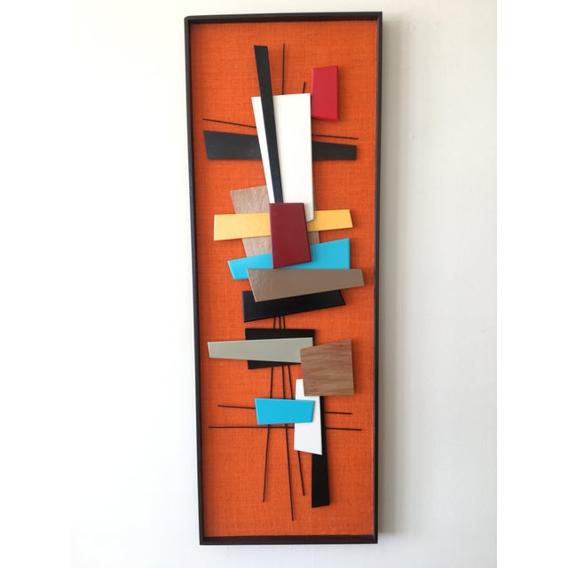 Mid-Century Modern Abstract Wall Sculpture Collage - Image 2 of 4