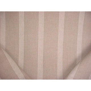 Traditional Ralph Lauren Indian Hill Ticking Stripe Linen Upholstery Fabric - 2-3/4y For Sale