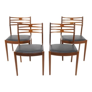 Vintage Mid Century Johannes Andersen for Vamo Sonderborg Model 101 Chairs-Set of 4 For Sale