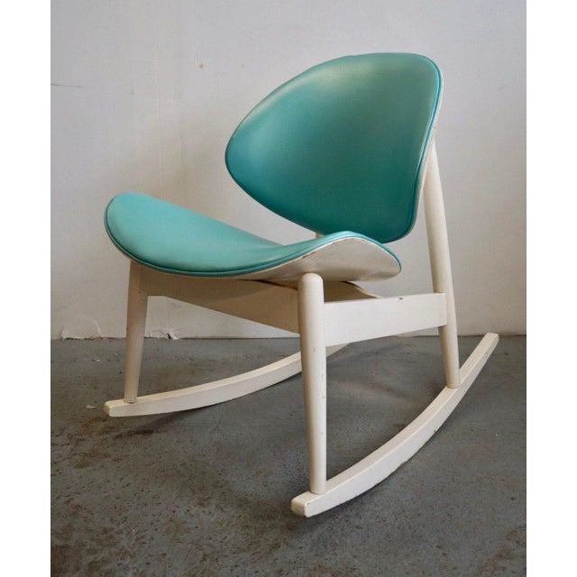 White Mid Century Modern Kodawood Rocking Chair For Sale - Image 8 of 8