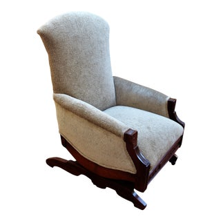 Early American Eastlake Platform Rocking Arm Chair For Sale