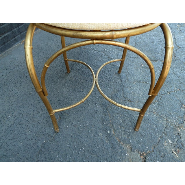 Mid-Century Whimsical Gilded High Back Chair - Image 4 of 4