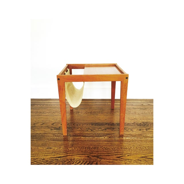 Mid Century Side Table With Magazine Rack - Image 4 of 6
