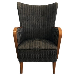 20th Century Single Swedish Bergere Chair For Sale