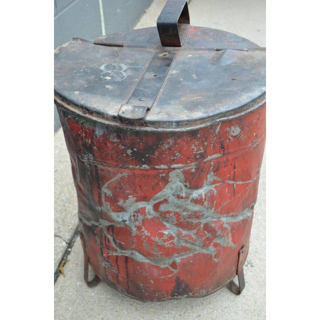 Industrial Rag Bin with Hinged Lid - Image 5 of 10